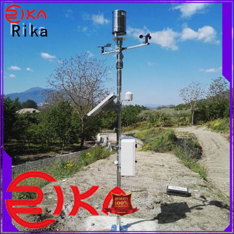 Rika accurate weather station supplier for soil temperature measurement