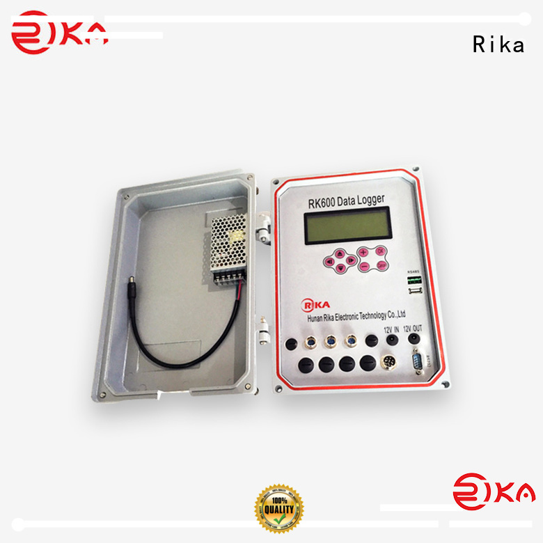 Rika weather data logger manufacturer for mesonet systems