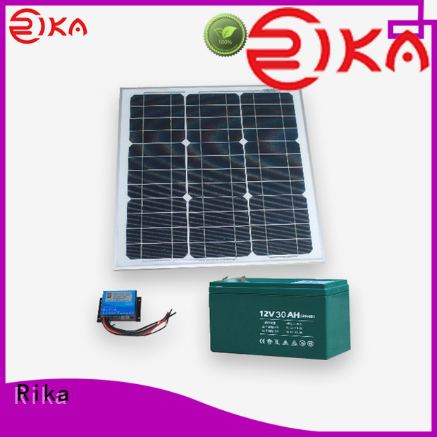 Rika professional solar power supply system solution provider for environmental monitoring system installation