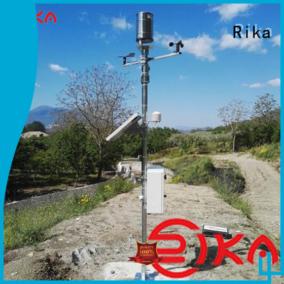 Rika professional weather station solution provider for humidity parameters measurement