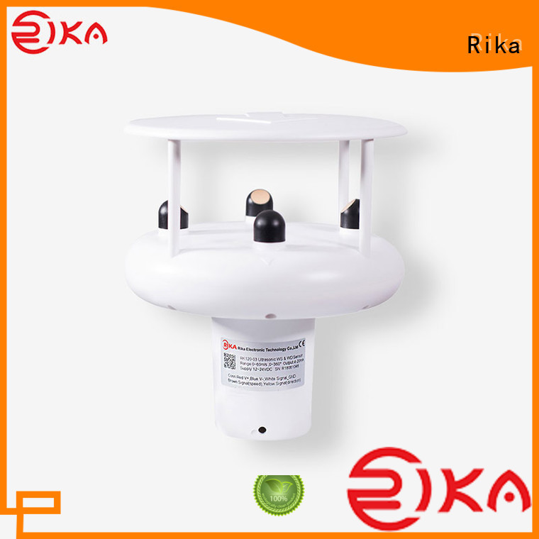 Rika ultrasonic wind solution provider for wind spped monitoring