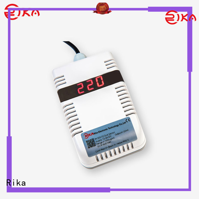 Rika great ambient sensor solution provider for dust monitoring