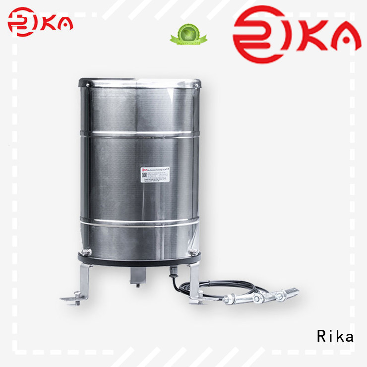 Rika professional weighing bucket rain gauge manufacturer for agriculture