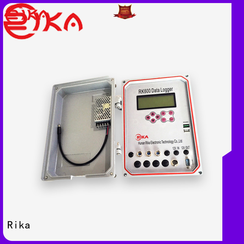 Rika weather data logger solution provider for mesonet systems