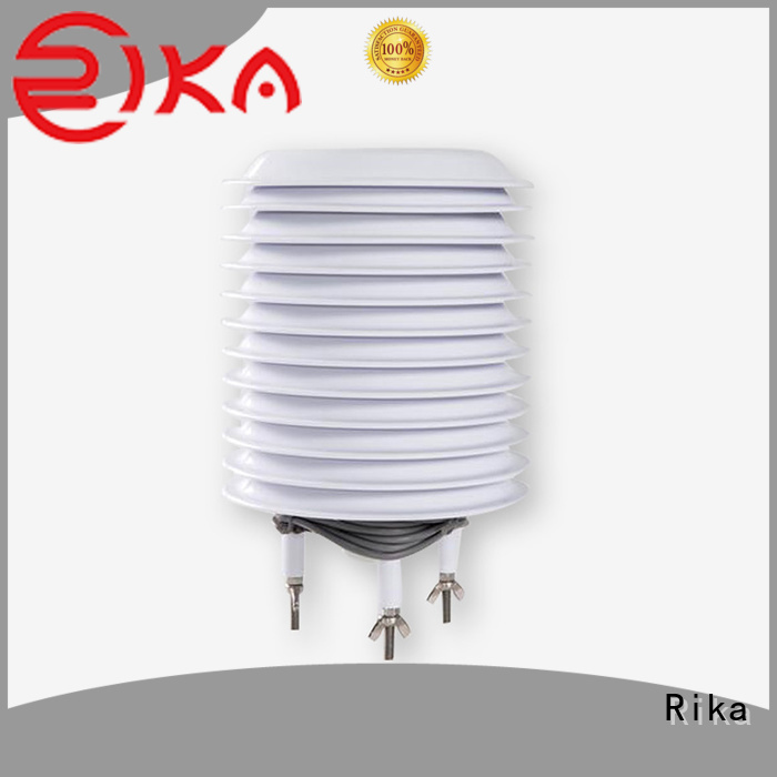Rika weather station radiation shield factory for relative humidity measurement