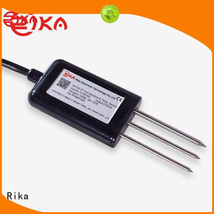 Rika soil temperature moisture sensor manufacturer for soil monitoring